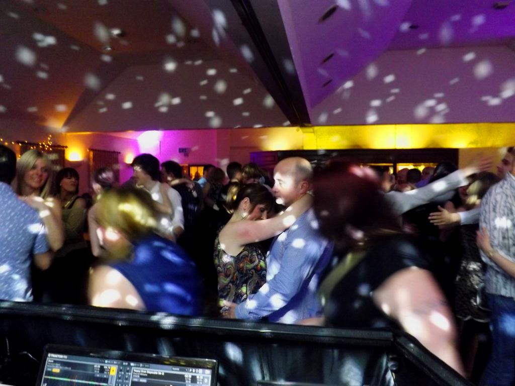 Dancers at a mobile disco party