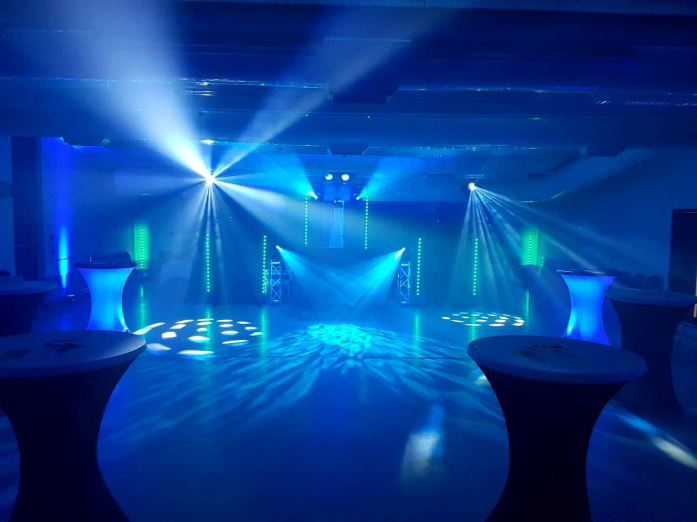 Blue club lighting for a Soul Scene event in Suffolk