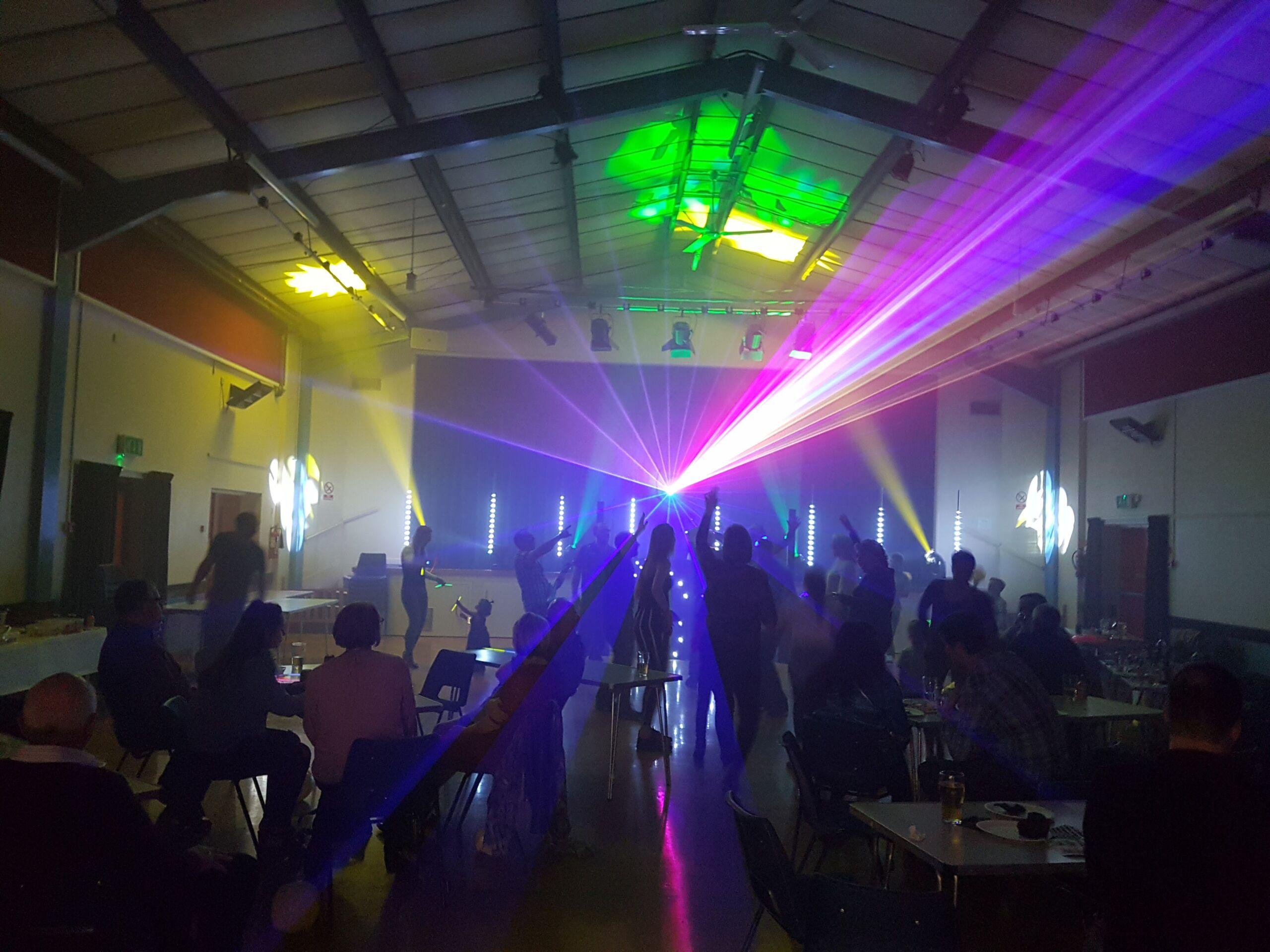 Mobile disco laser lighting
