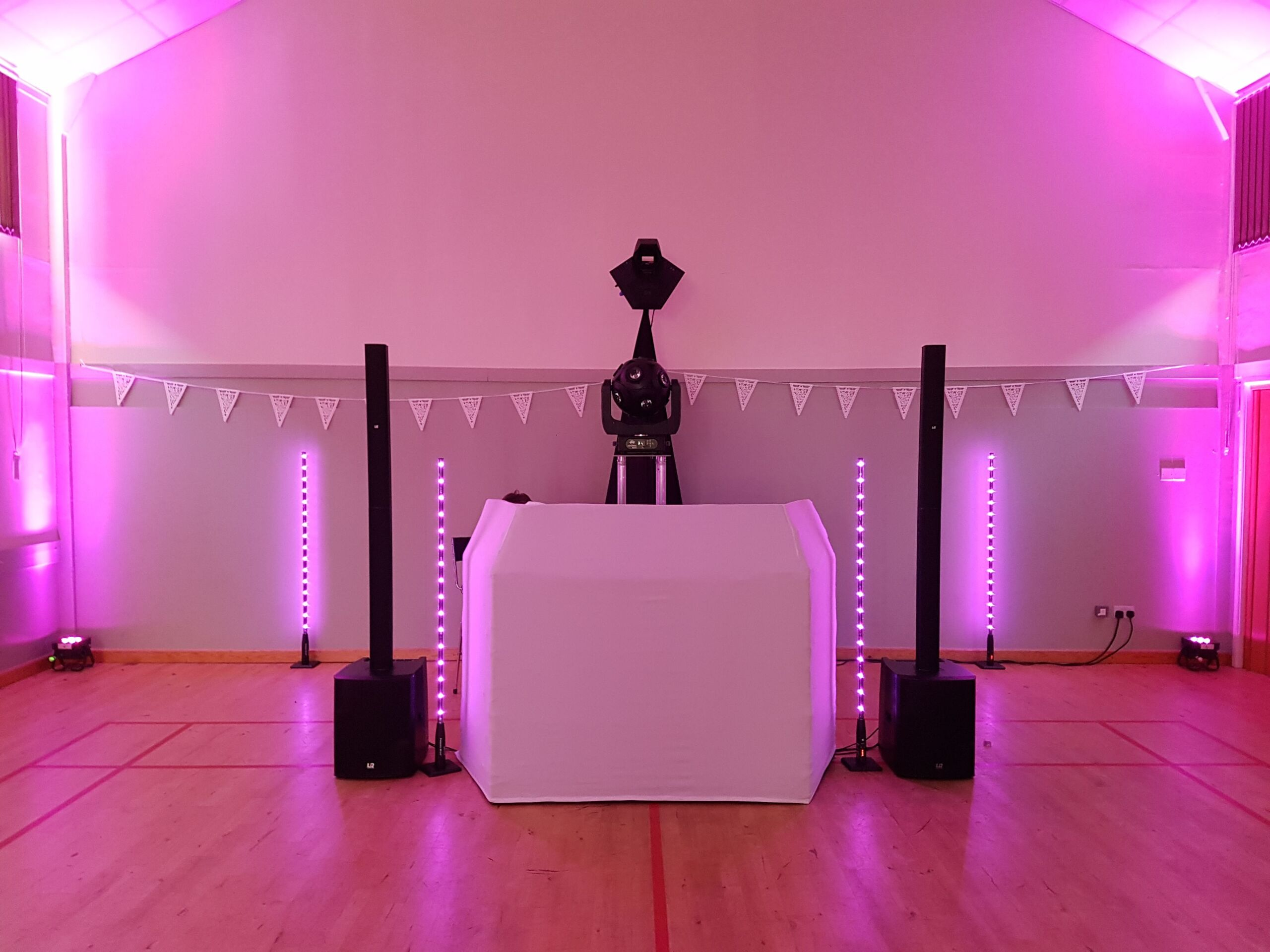 Modern and stylish mobile disco set up in Suffolk