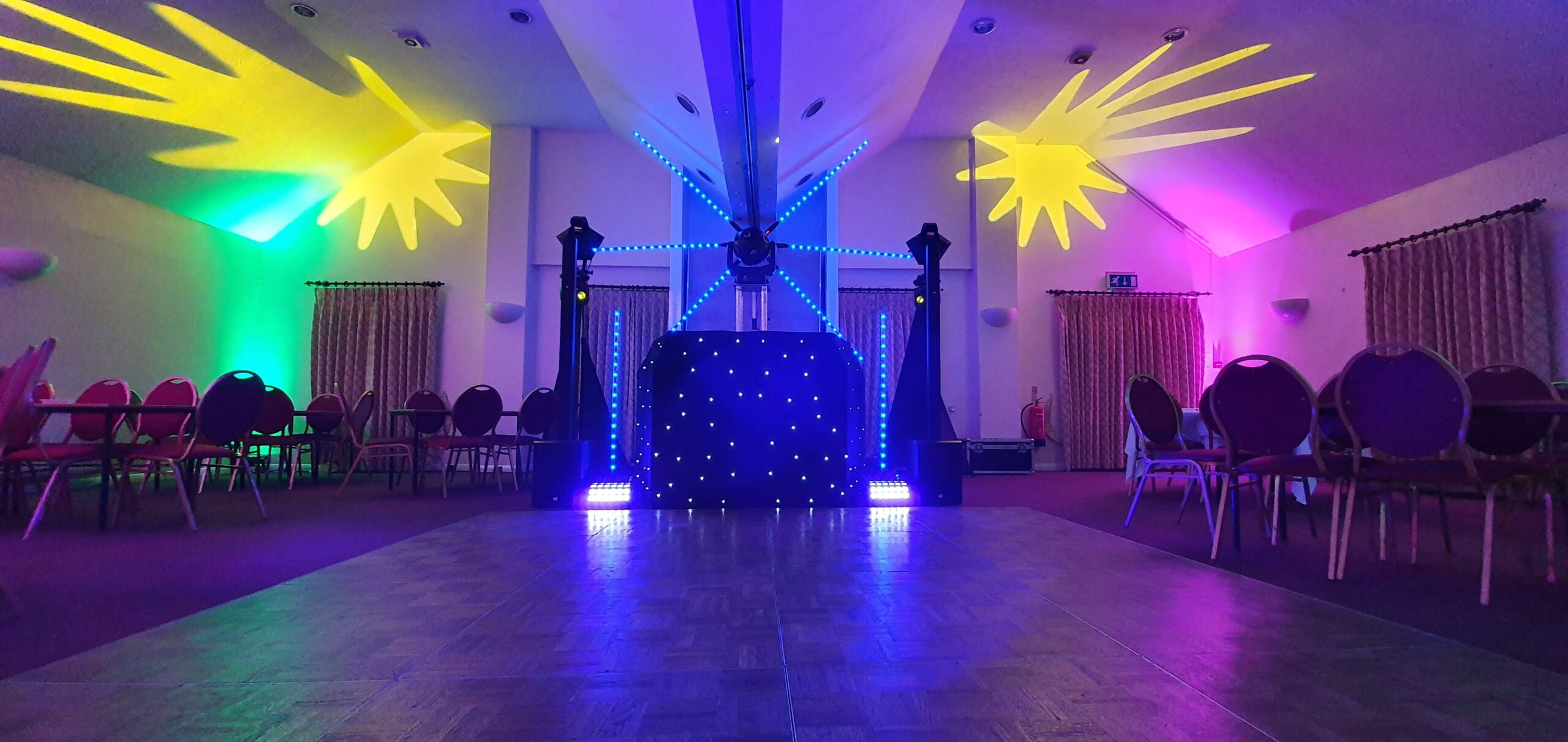 Mobile Disco set up for a soul scene event in Suffolk