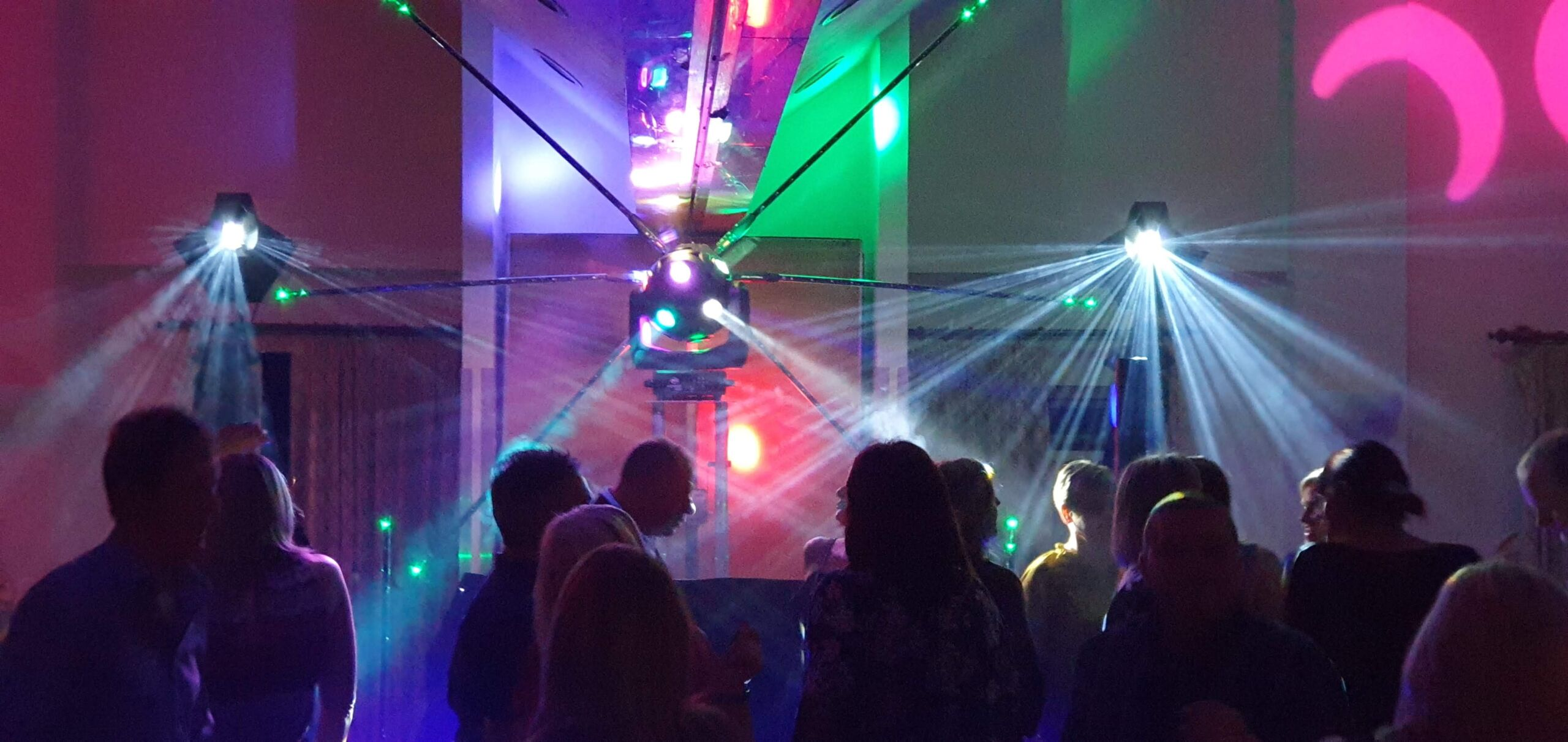 Soul Scene event with mobile disco and lighting effects